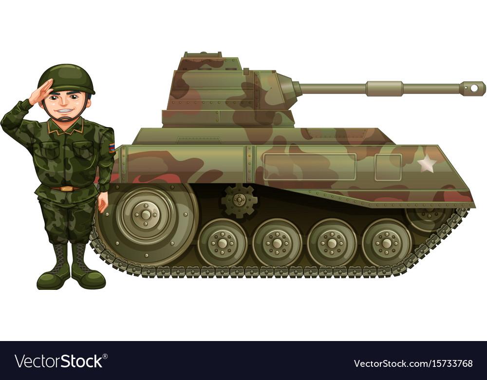 Картинка солдаты и танк