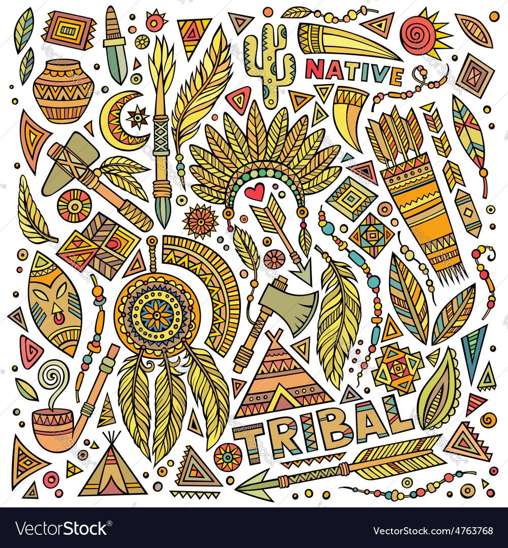 Tribal Native Set Of Symbols Royalty Free Vector Image