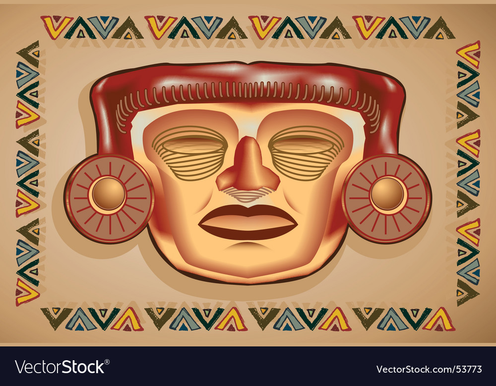 Aztec mask vector image