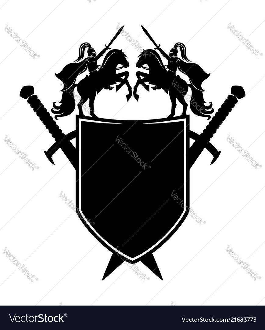 Black shield and swords
