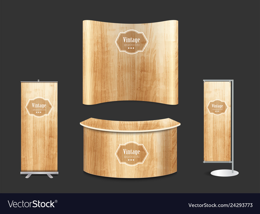 Blank trade show booth exhibition stand design