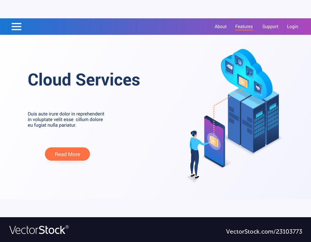 Cloud services 3d lp template2