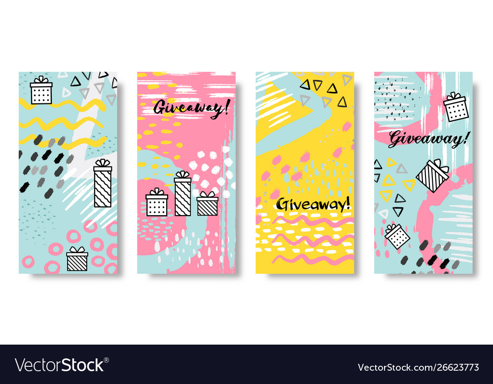 Giveaway banners social media sale post and give