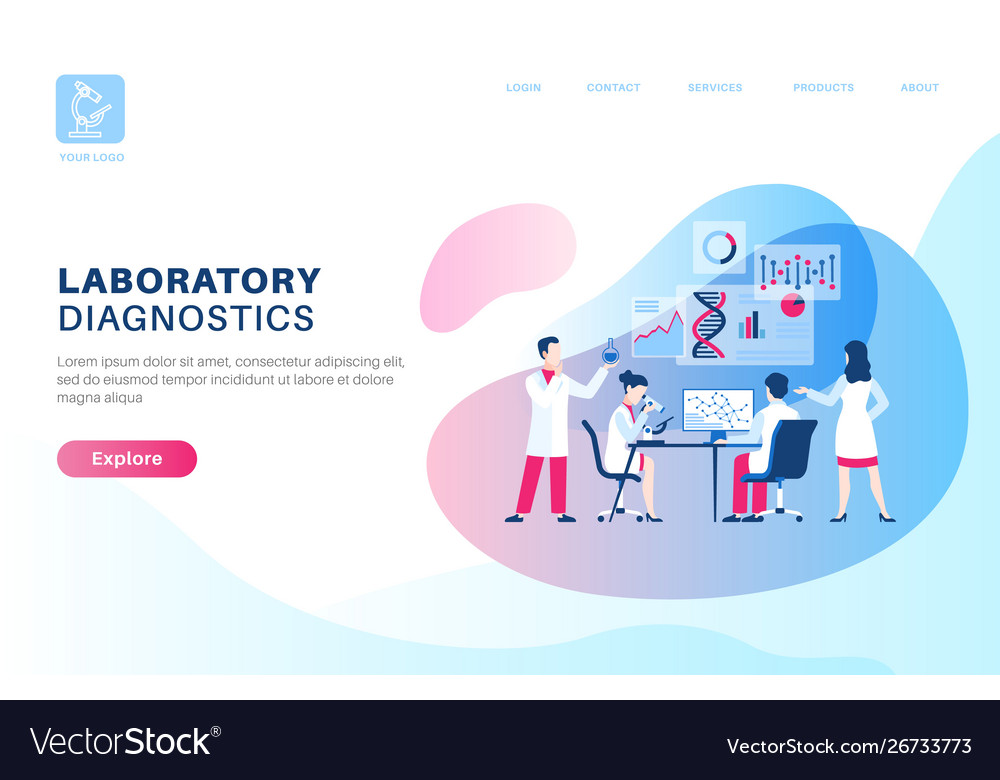 Scientific research landing medical dna research