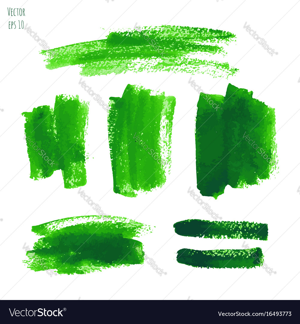 Set of greenery watercolor texture backgrounds