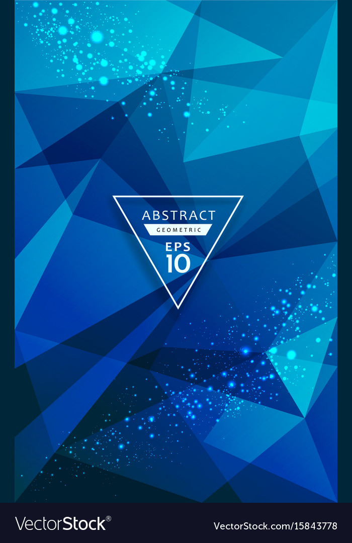 Abstract triangles geometric blue lighting point vector image