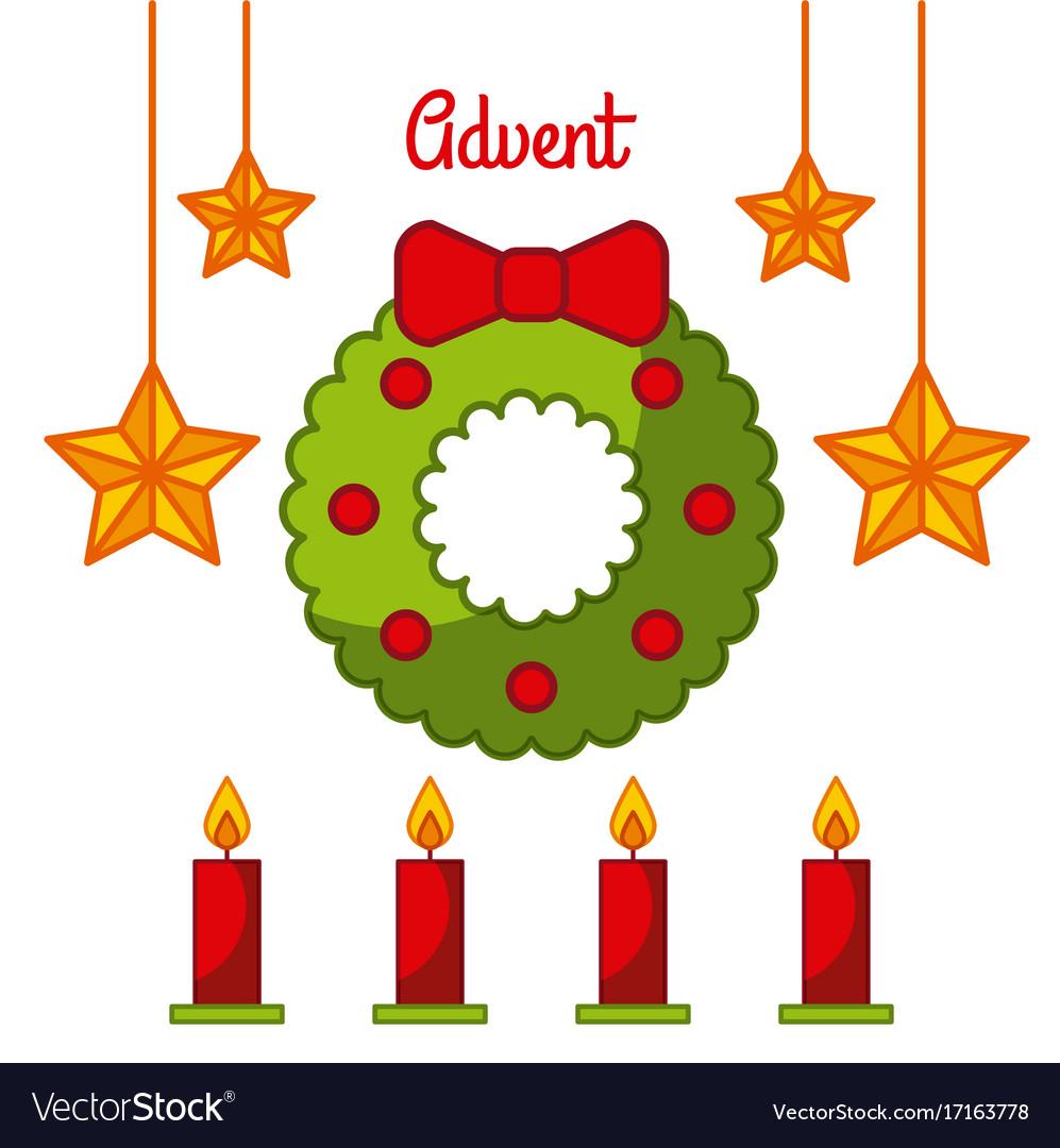Advent wreath star candles decoration celebration