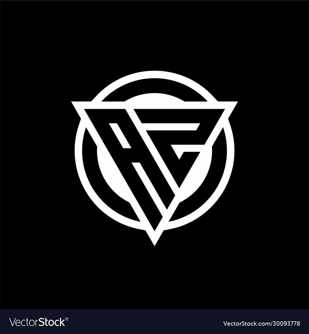 Az logo with negative space triangle shape