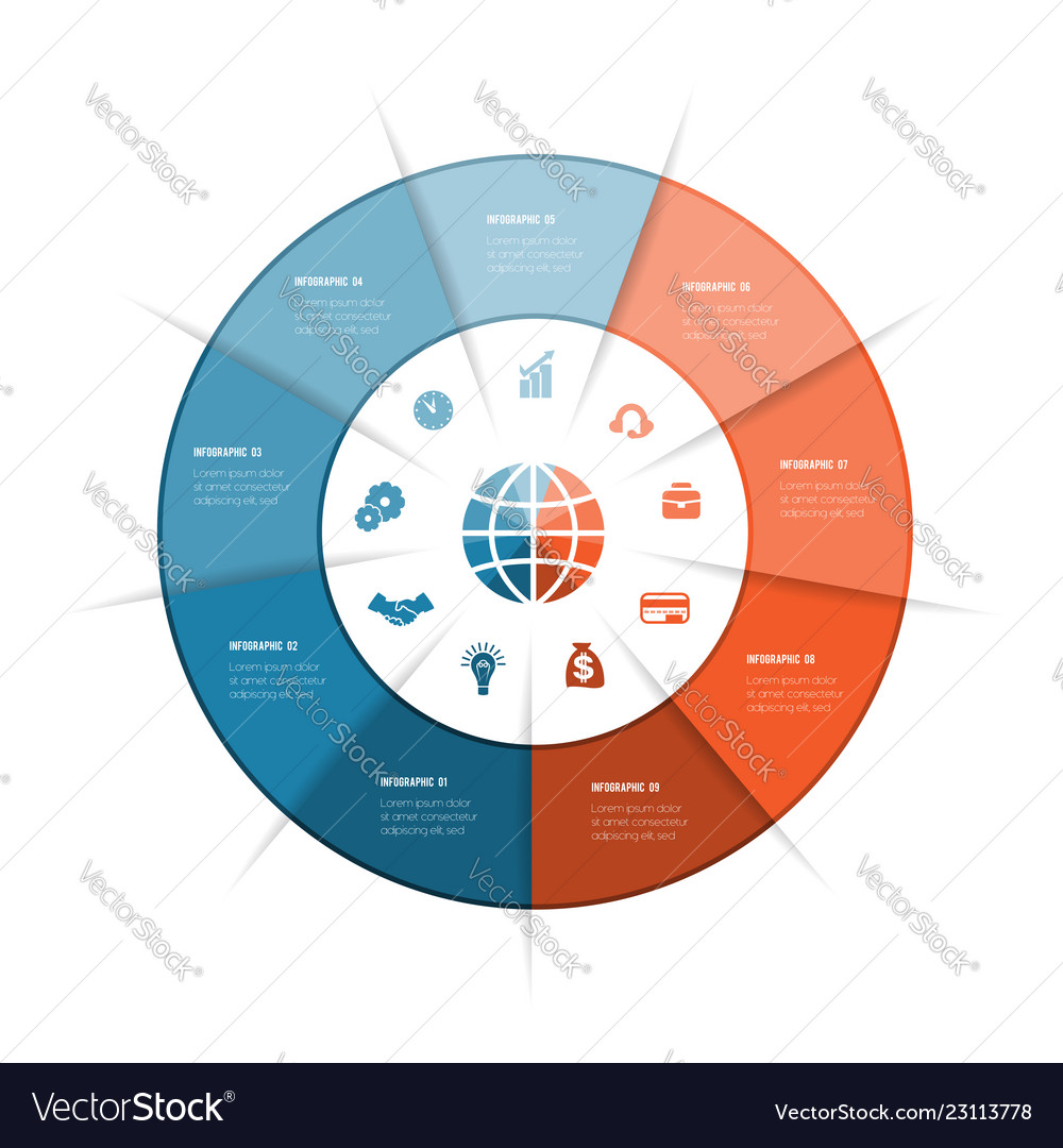 Best ring infographics can be used for workflow