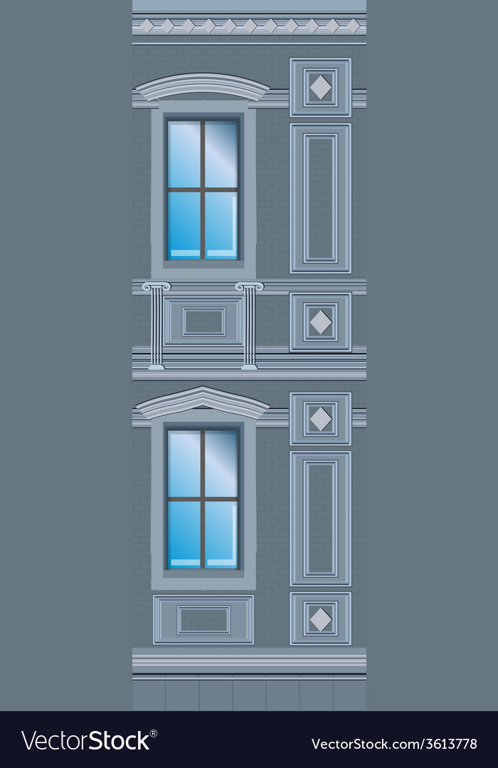 Building facade parts vector image
