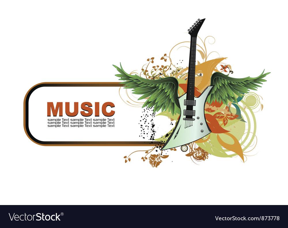 Concert frame vector image