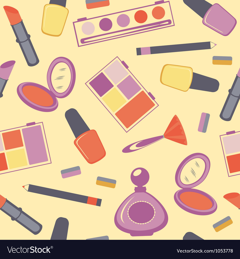 Cosmetics seamless pattern