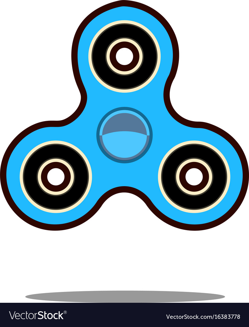 Hand spinner flat hand vector image