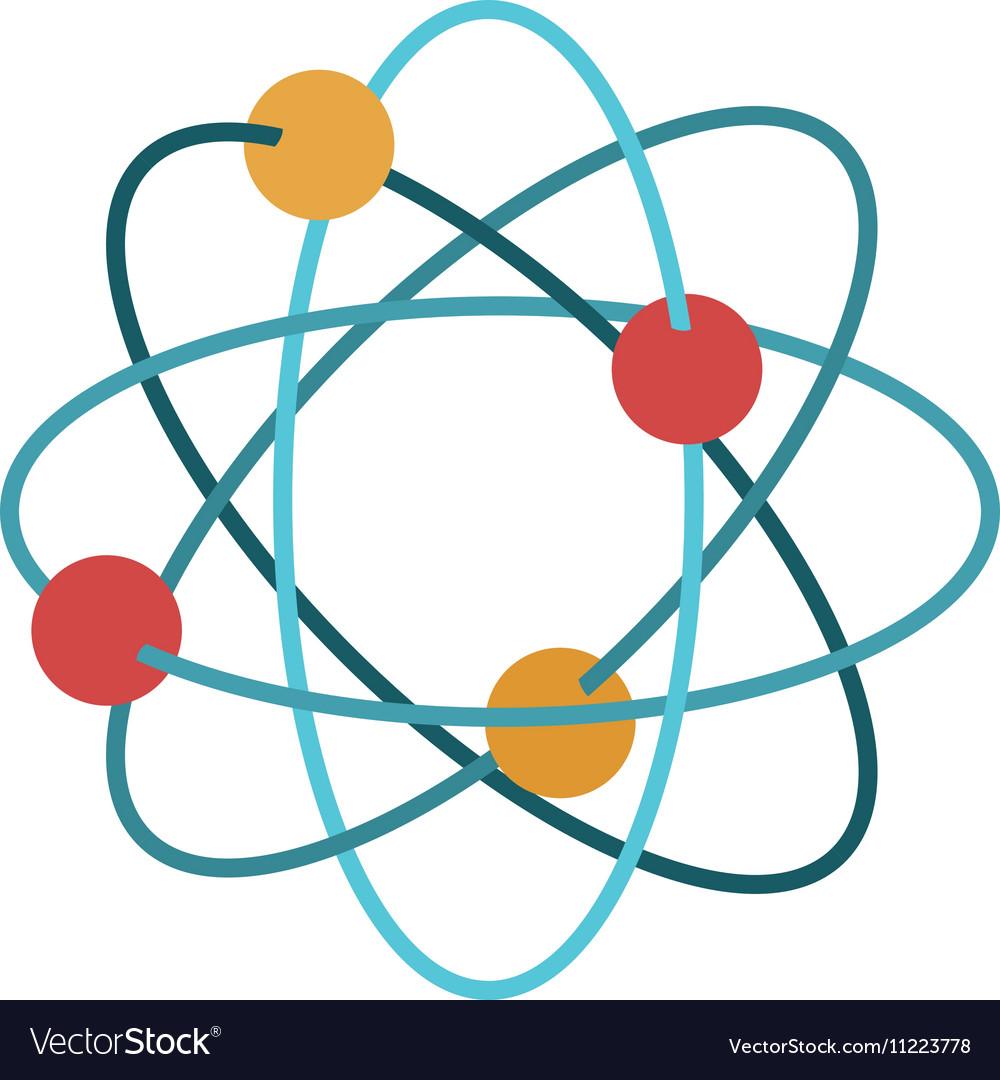 Multicolored atom icon