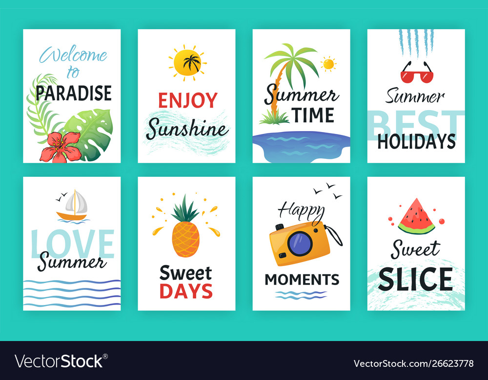 Summer doodle poster beach party banners