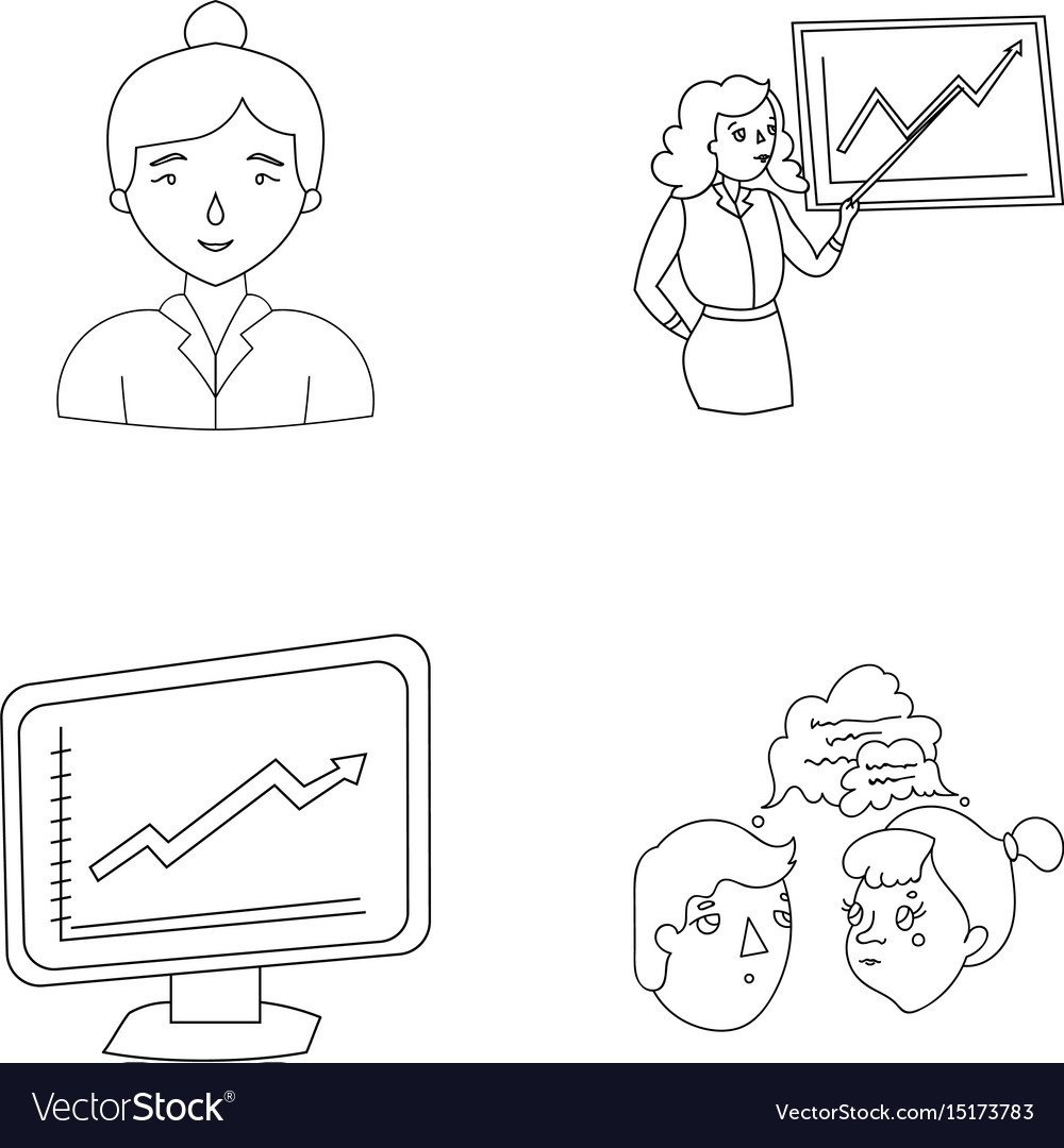 Businesswoman growth charts brainstorming