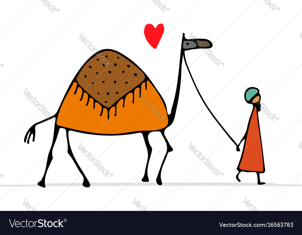 Camel sketch for your design