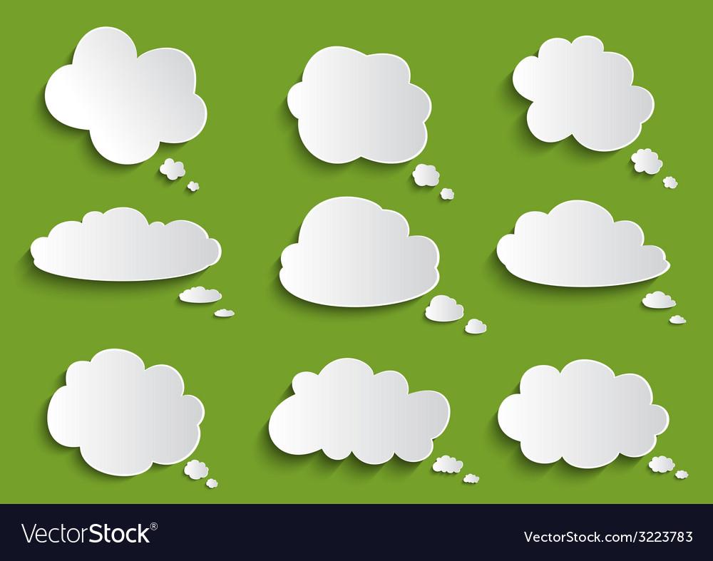 Cloud speech bubble collection