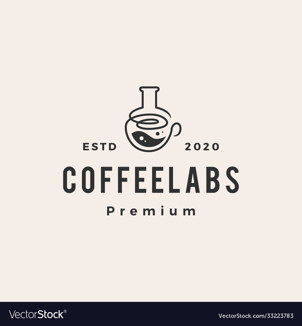 Coffee lab hipster vintage logo icon
