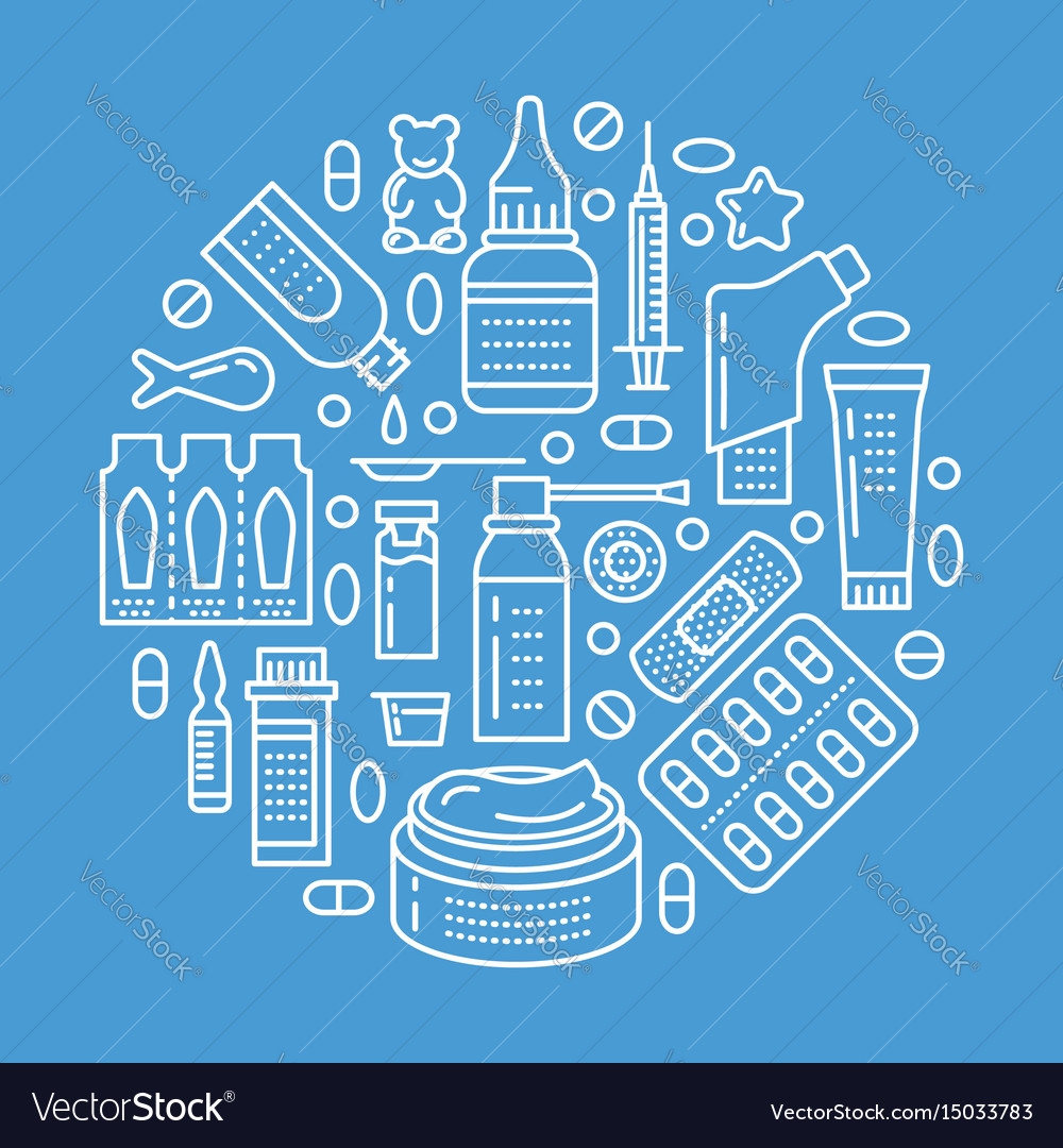 Medical drugstore poster template