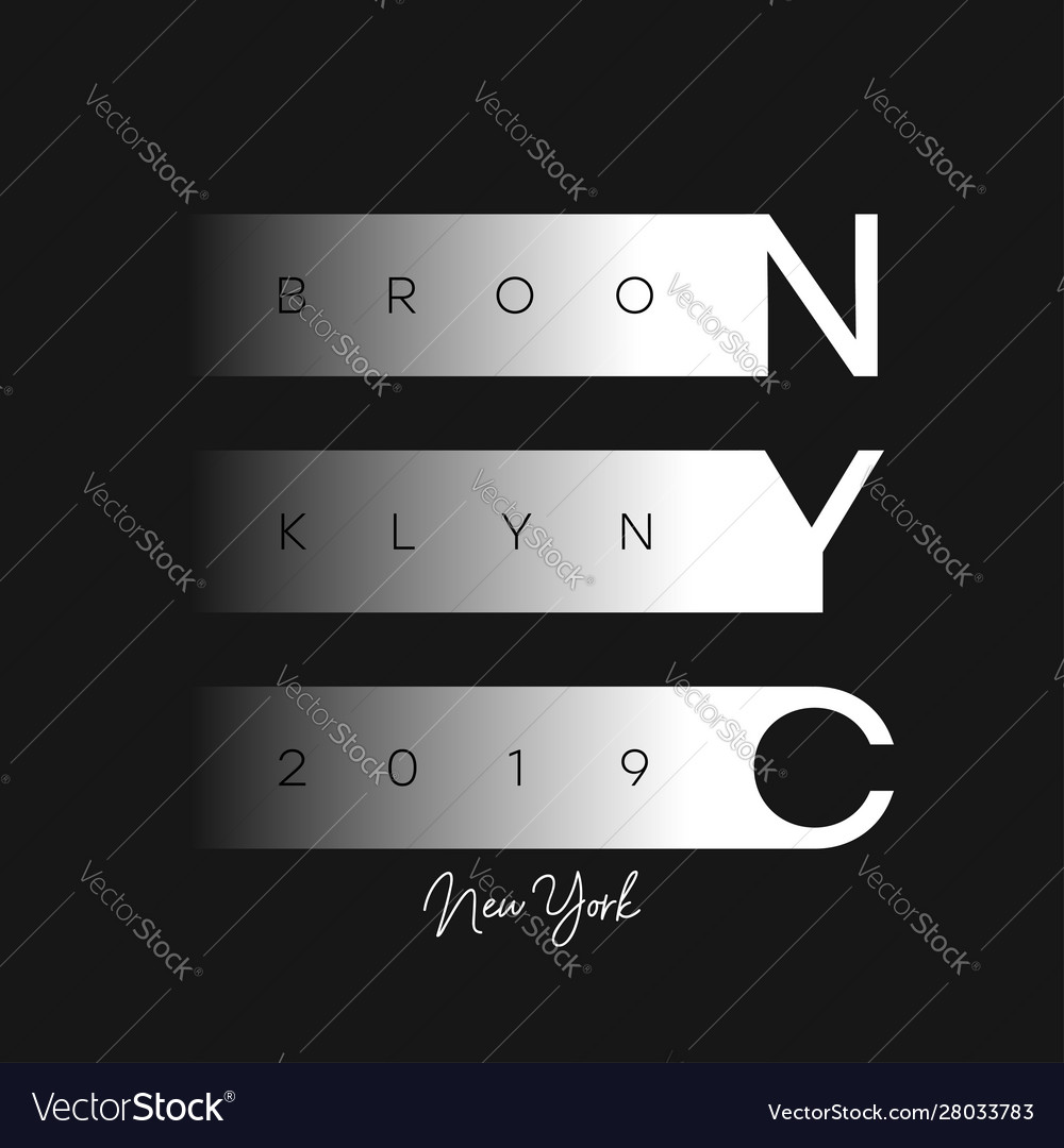Nyc modern design for t-shirt new york brooklyn