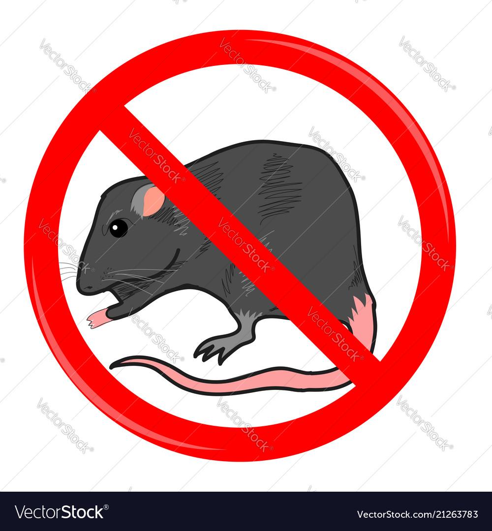 Rat stop sign