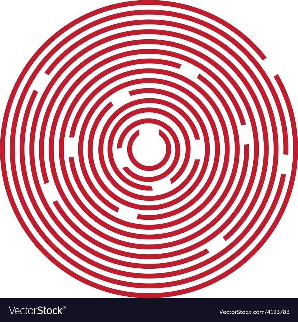 Red Maze Puzzle Royalty Free Vector Image Vectorstock
