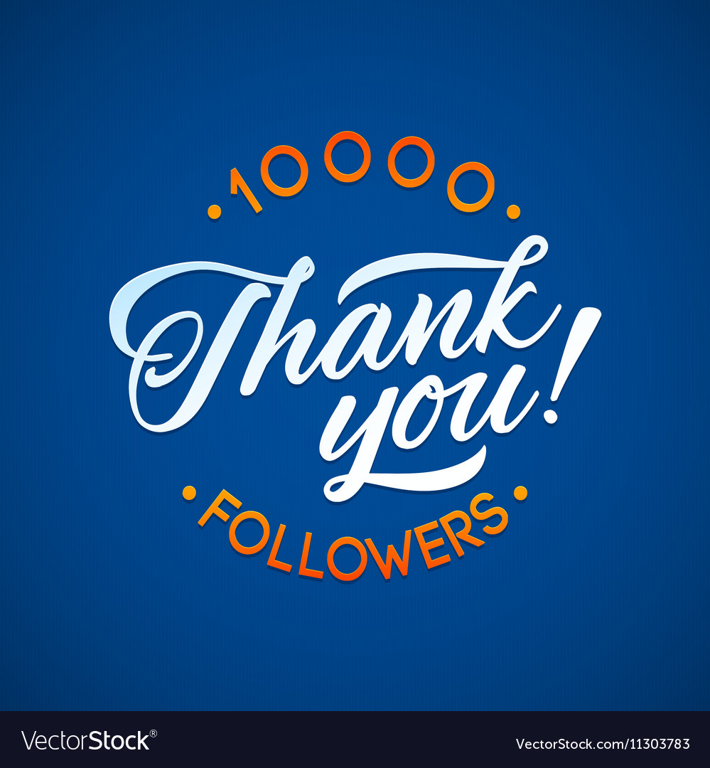Thank you 10 000 followers card thanks