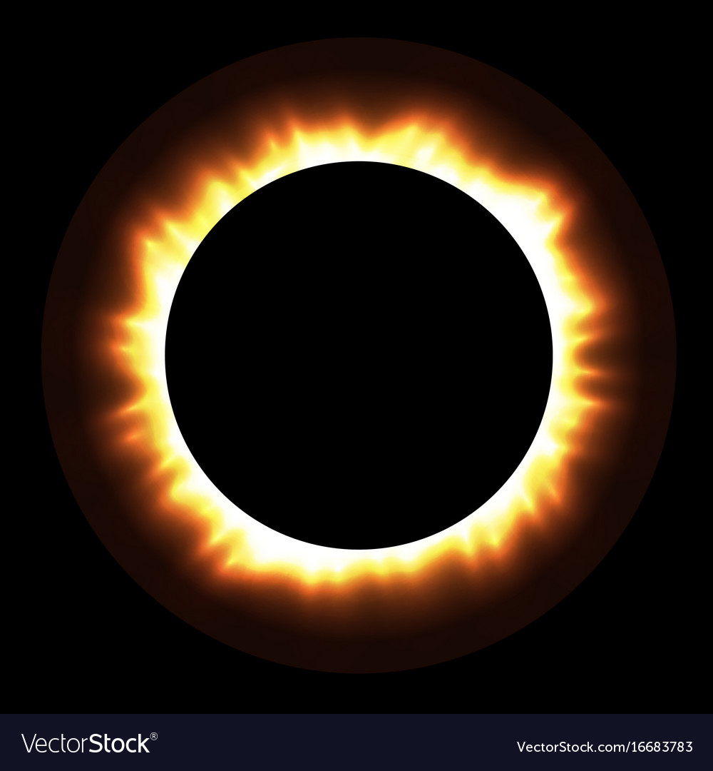 Total eclipse of the sun with corona on vector image
