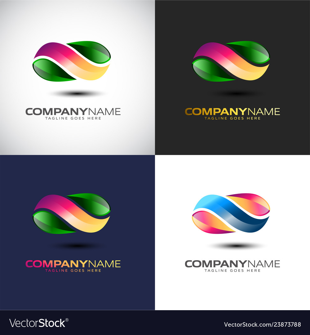 Abstract 3d infinity logo template for your