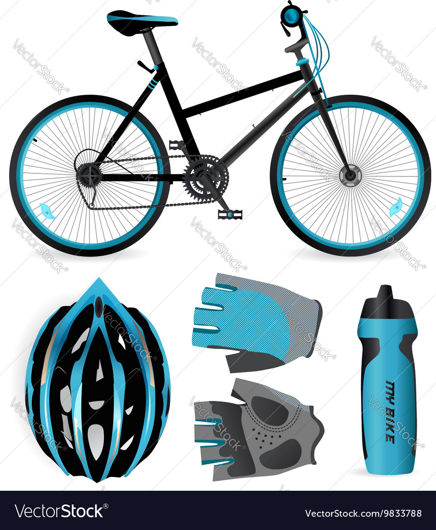 Bike or Bicycle accessories Helmet gloves and