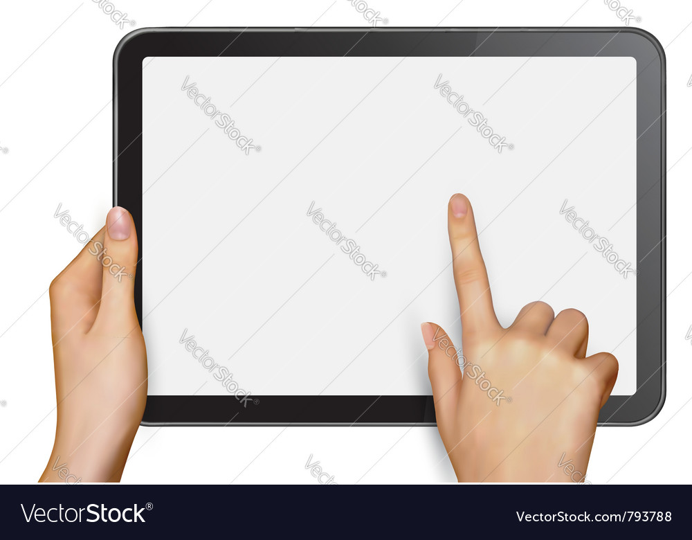 Digital tablet vector image