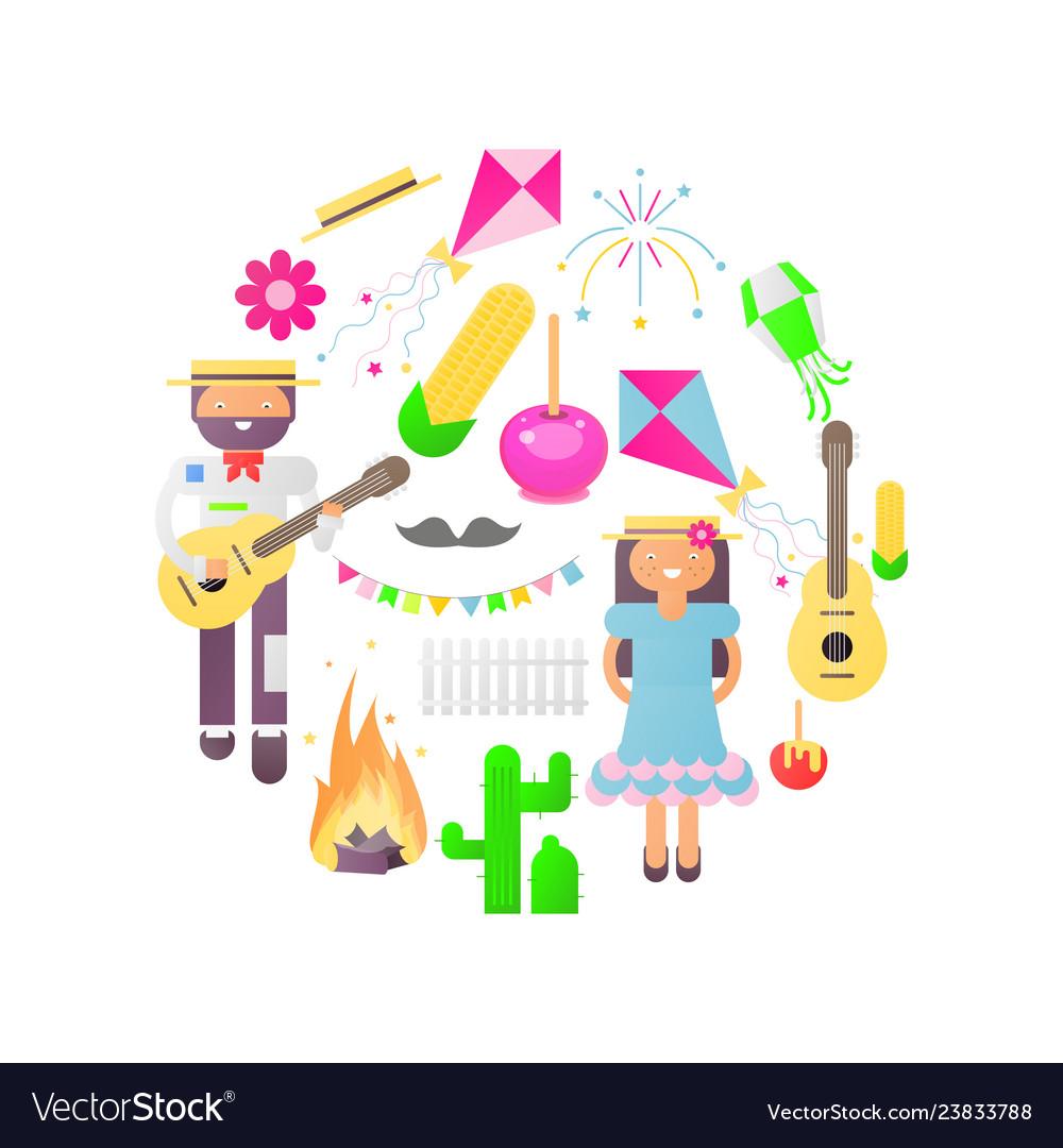Festa junina objects