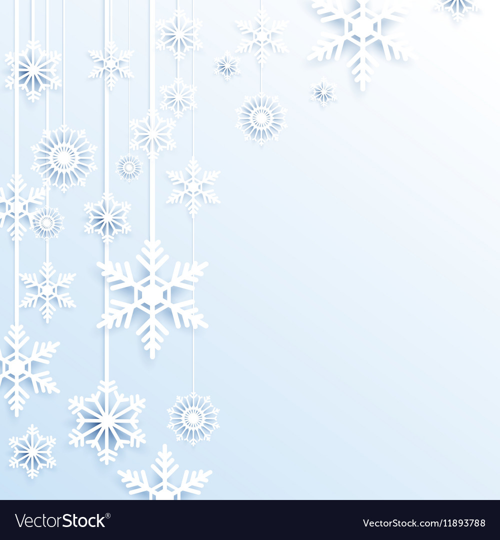 Christmas Snowflakes.Hang Christmas Snowflakes Background