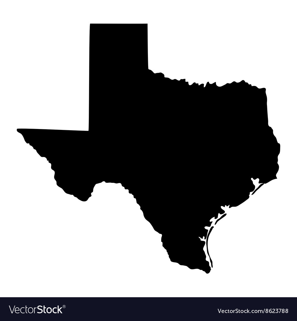 Map of the US state of Texas
