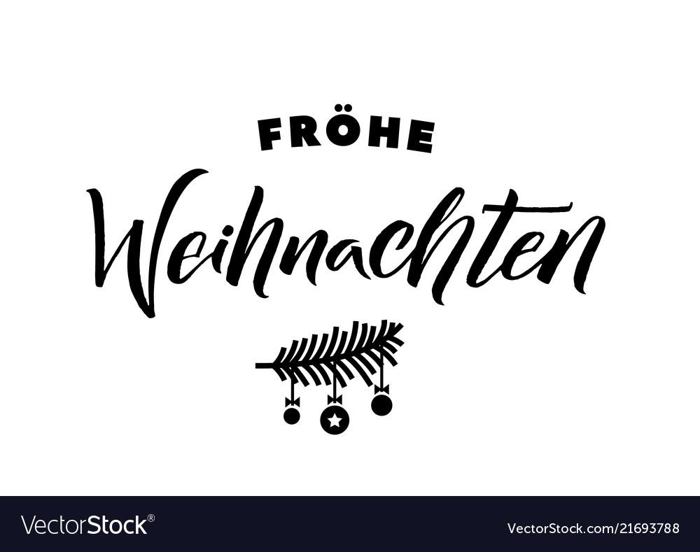 Merry Christmas German.Merry Christmas German Calligraphy Greeting Card