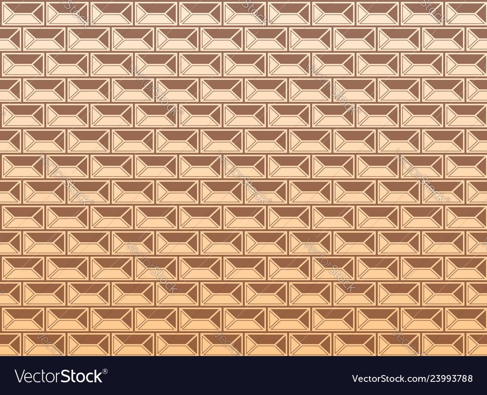 Renaissance facade geometric pattern yellow and