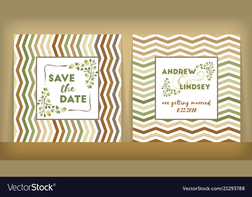Save date wedding invitation double-sided