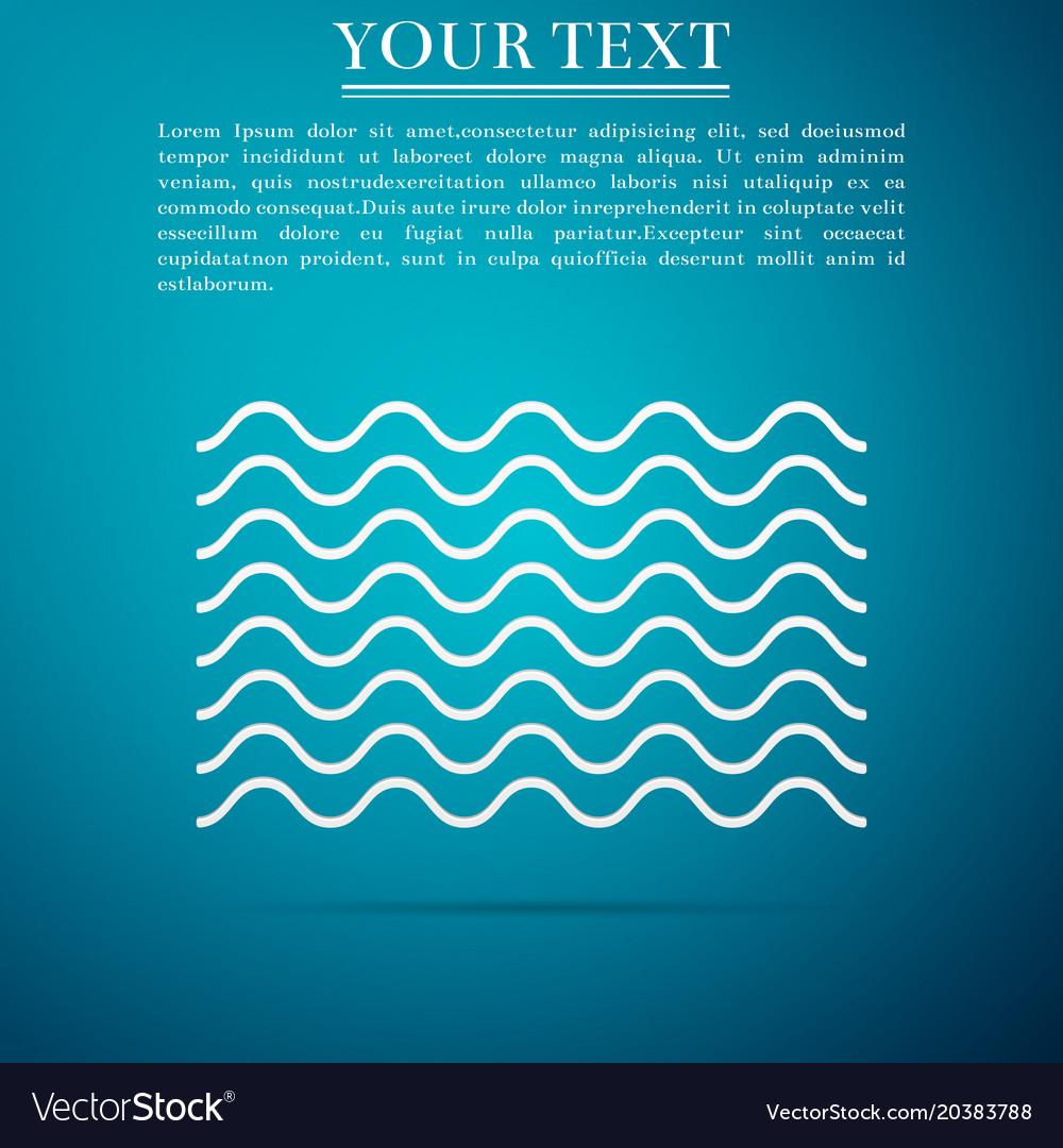 Waves icon isolated on blue background