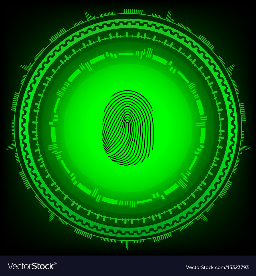 Abstract technology backgroundsecurity system vector image