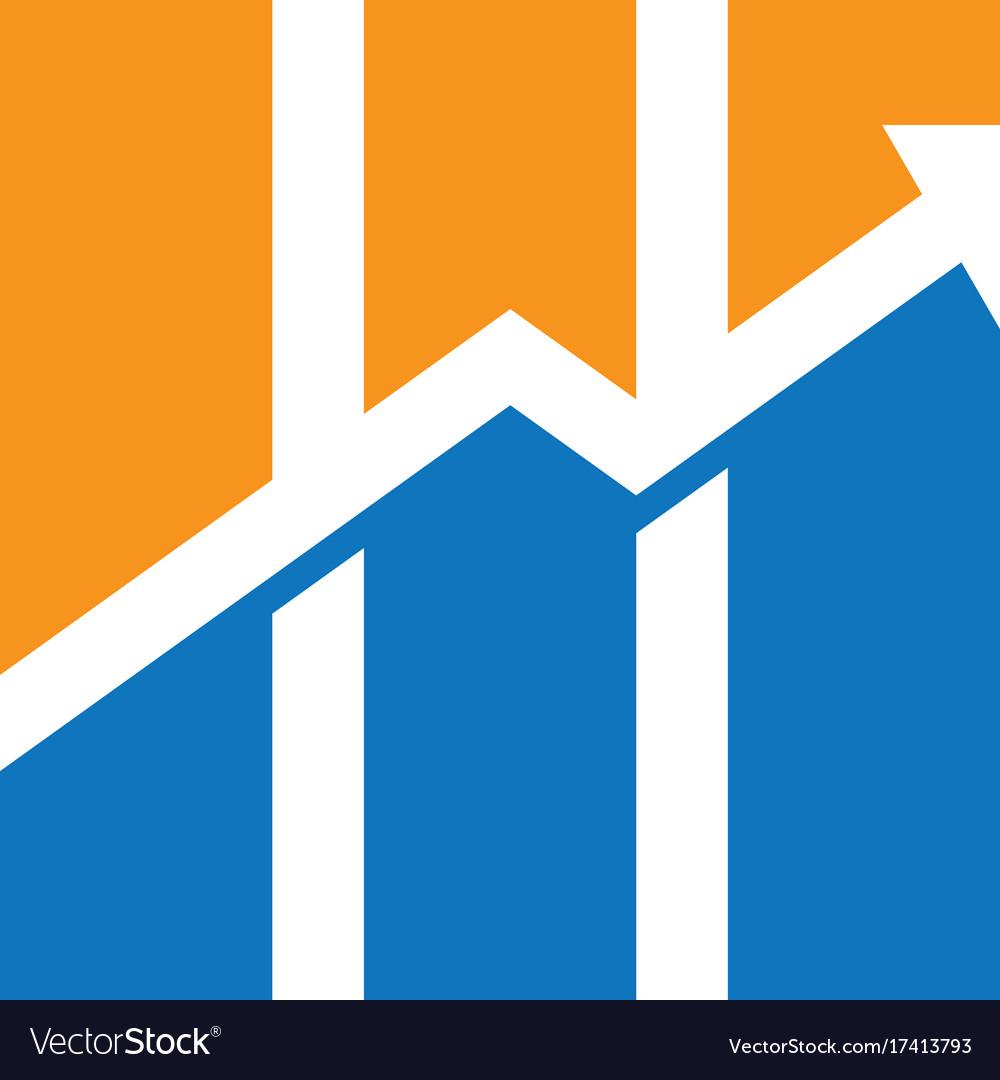 Graph arrow business finance logo