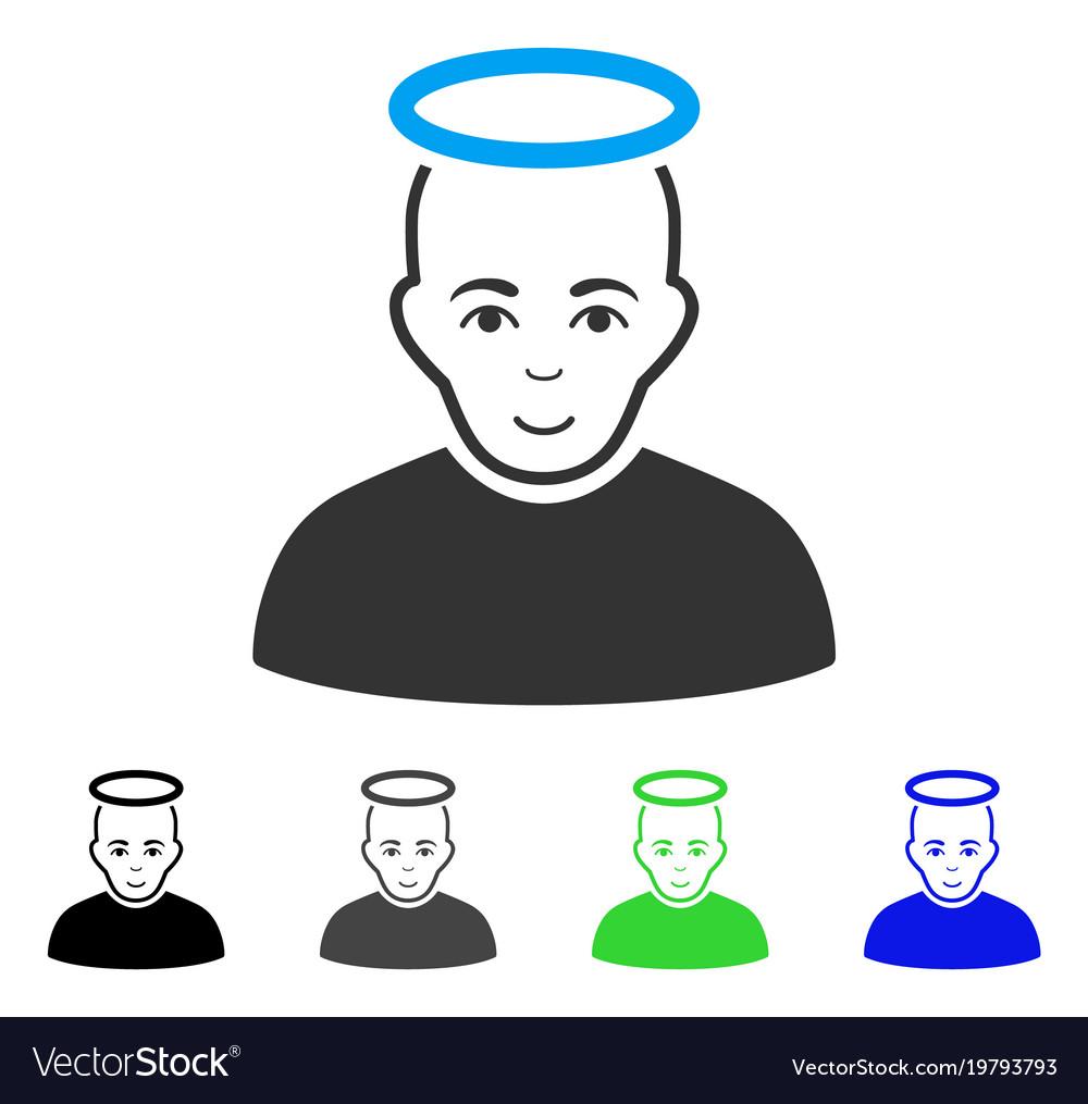 Happy holy man icon