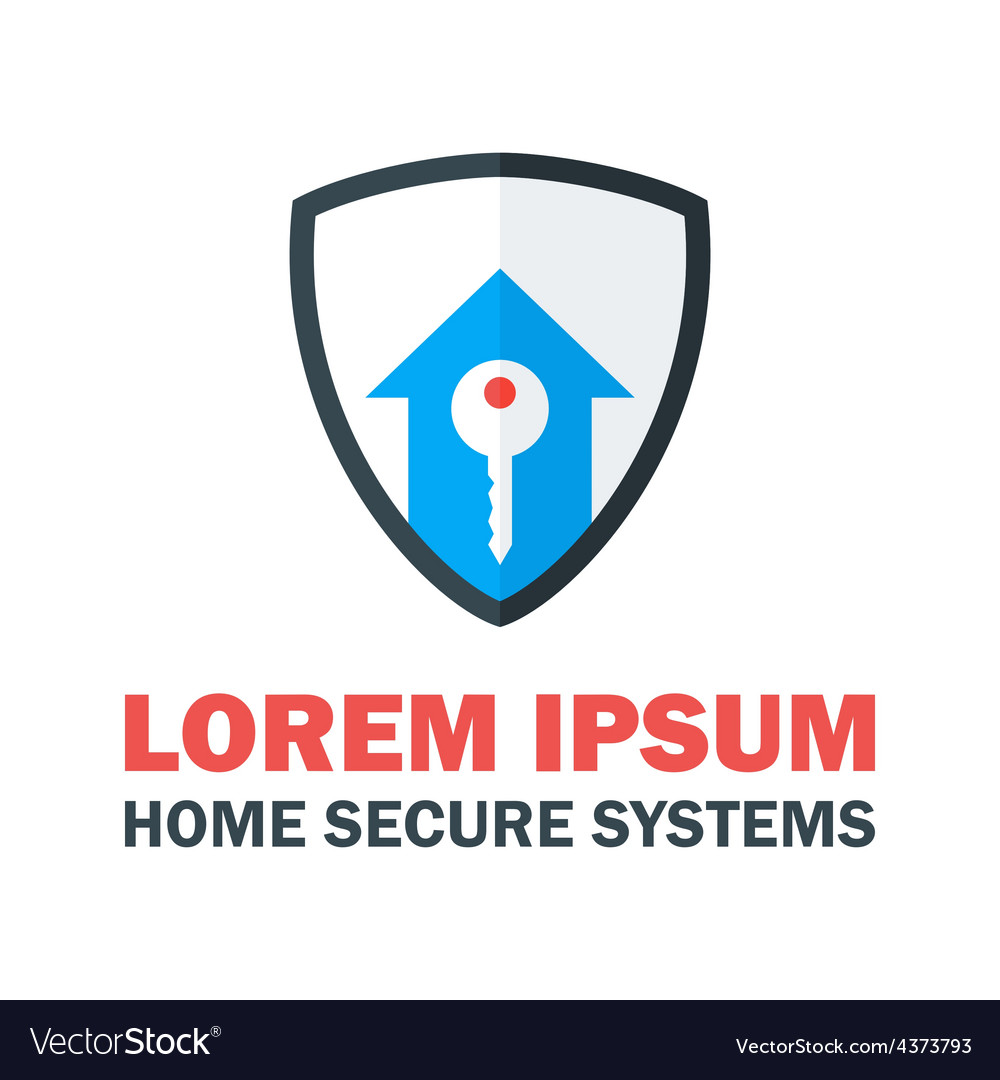 Home Security System Logo Royalty Free Vector Image