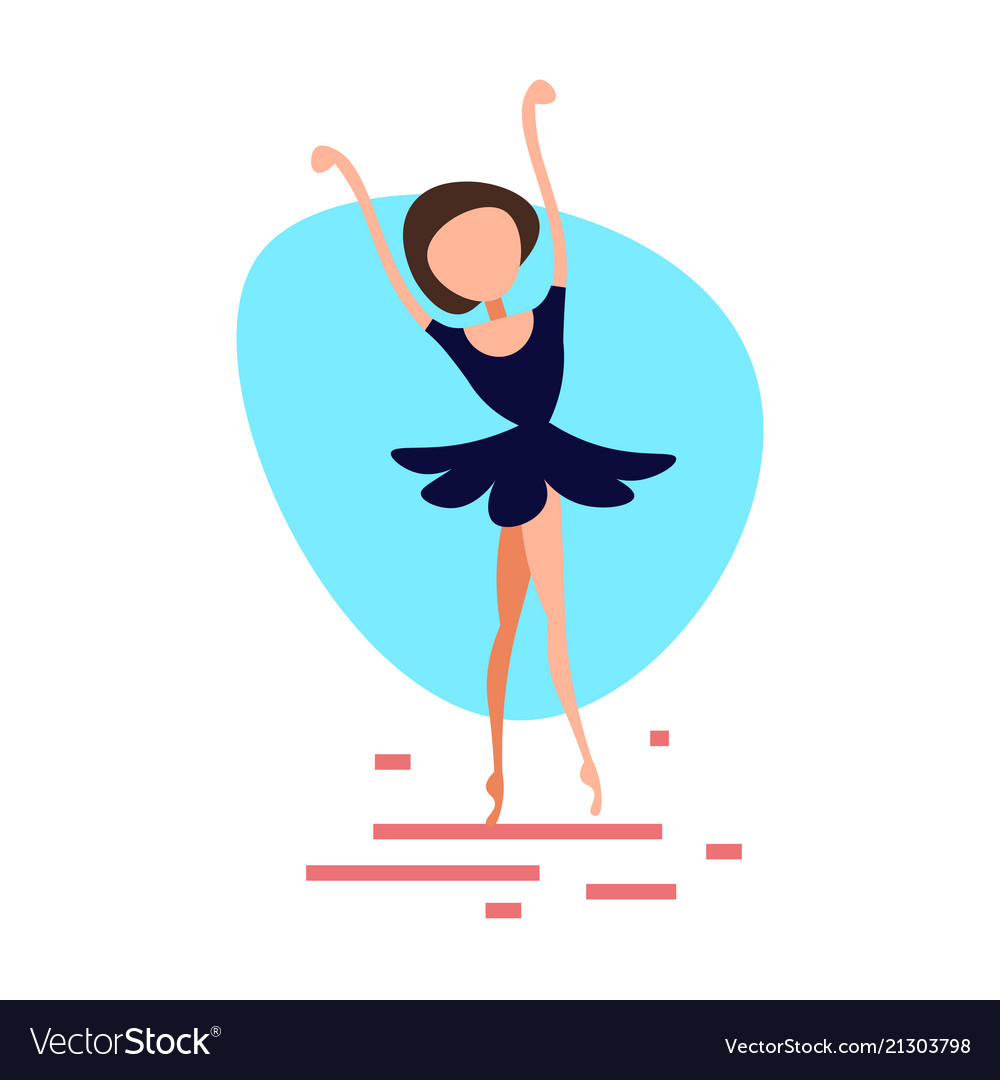 Ballerina woman dancing pose on white background