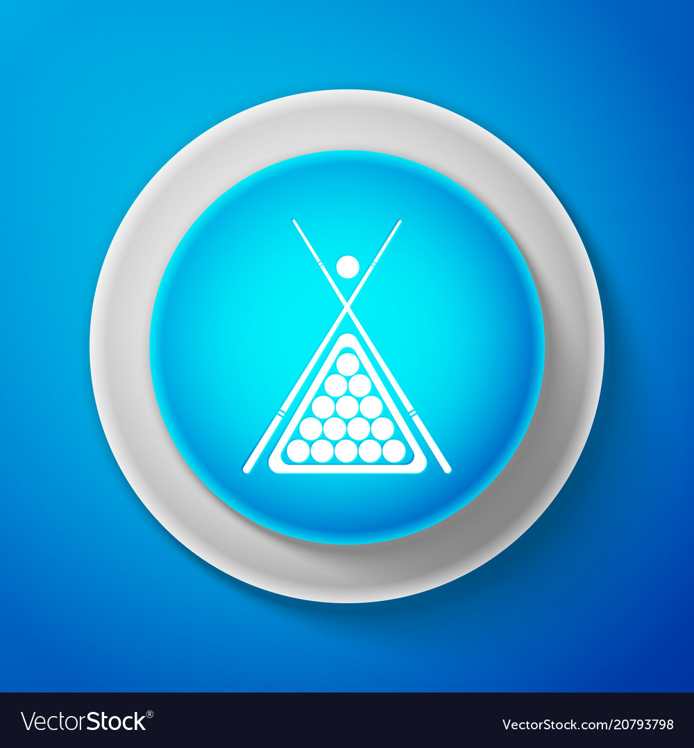 Billiard cue and balls in a rack triangle icon