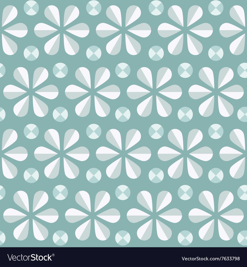 Blue floral seamless pattern vintage background vector image
