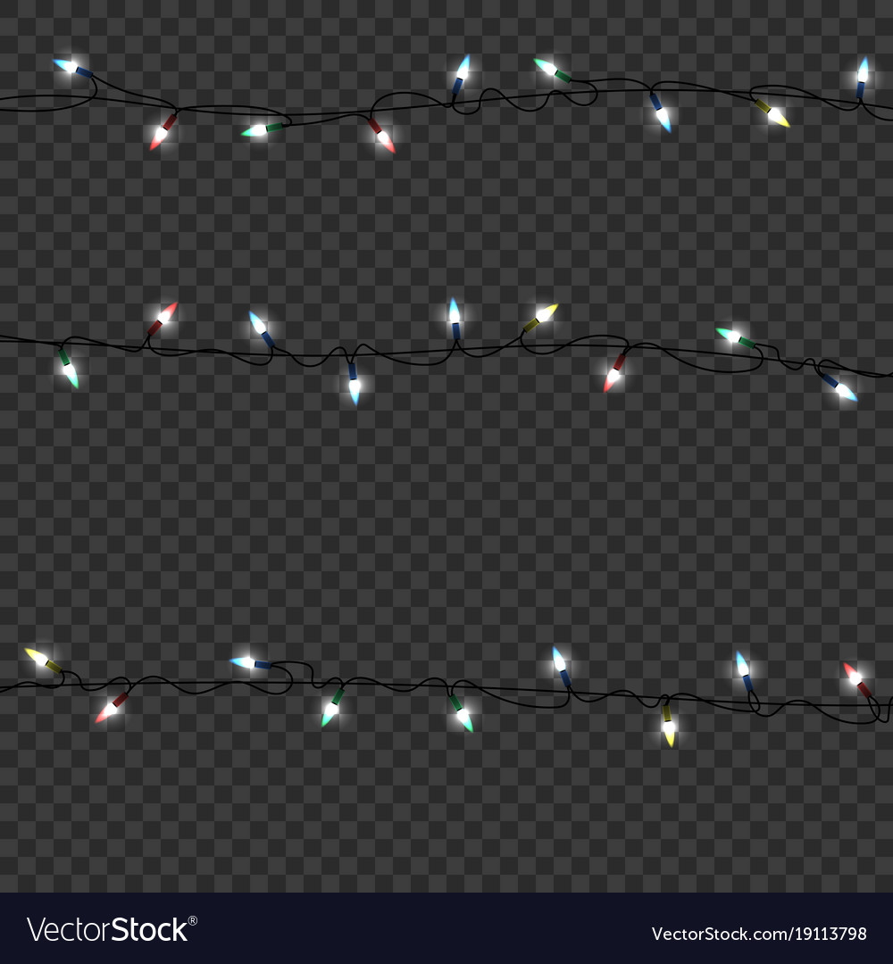 Color garlands decorations led neon lamp vector image