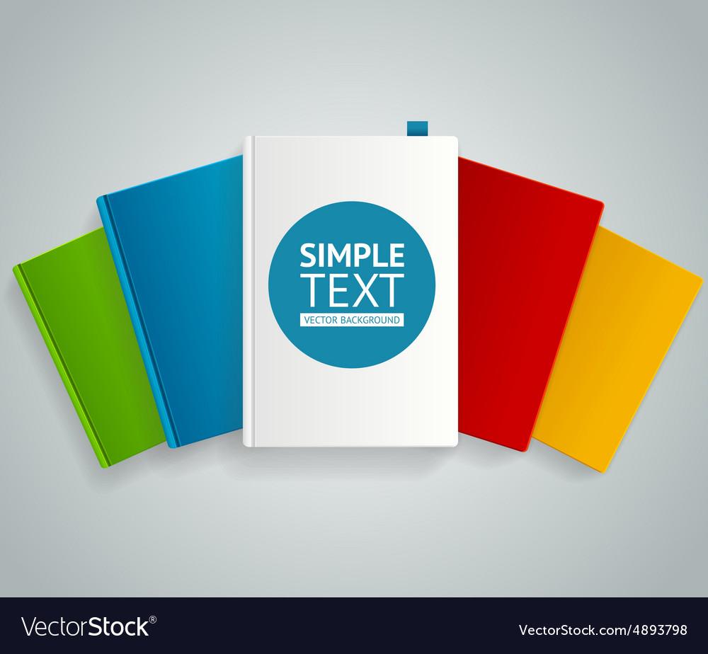 Colorful book concept