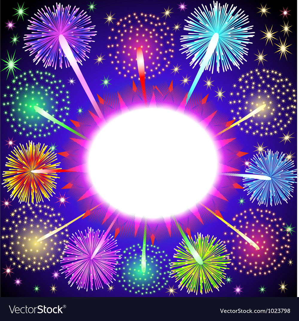 fireworks background royalty free vector image