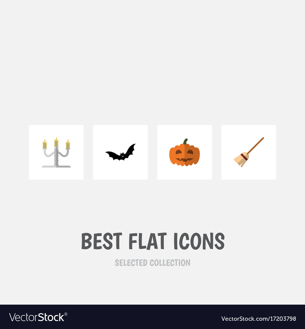 Flat icon festival set of gourd superstition vector image